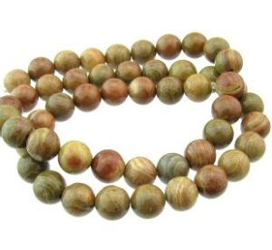 autumn jasper 8mm round beads