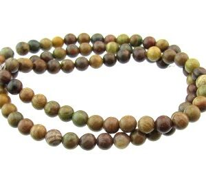 Autumn Jasper round gemstone beads