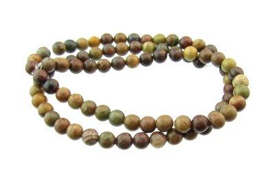 Autumn Jasper round gemstone beads