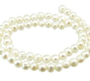 white 6mm round freshwater pearls