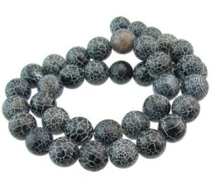 black dragon vein agate beads 10mm