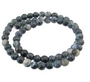 black dragon vein agate gemstone beads 6mm