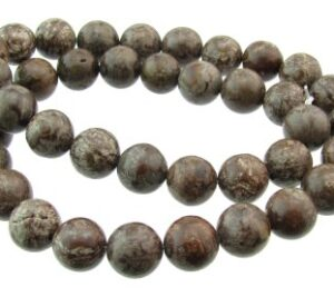 brown snowflake jasper gemstone beads 10mm