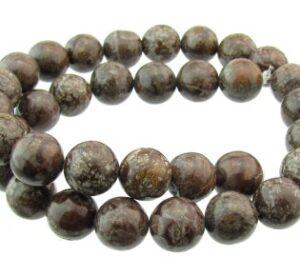 brpwn snowflake jasper beads 12mm