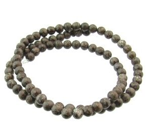 brown snowflake jasper gemstone beads