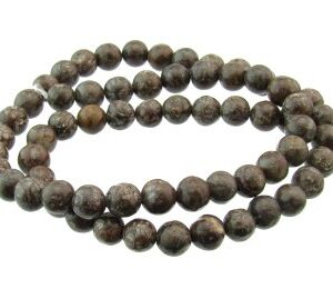 brown snowflake jasper beads 6mm