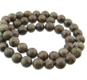 brown snowflake jasper gemstone beads 8mm