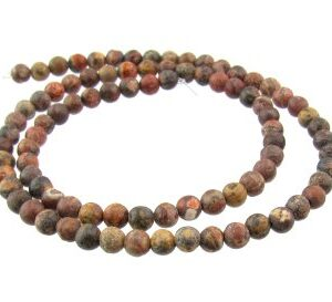 leopardskin jasper gemstone beads 4mm round