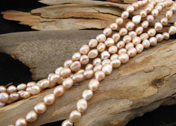 lilac nugget freshwater pearls 9mm