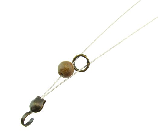 step 3. slide a split ring onto both strands