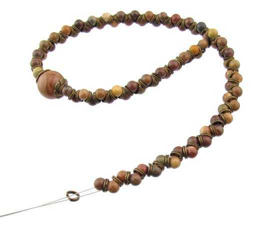 autumn jasper gemstone beads bracelet