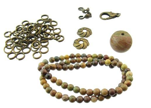 autumn jasper and findings for bracelet