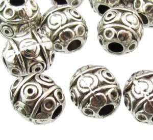 silver beads 7mm