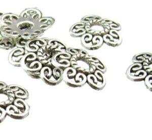 silver bead caps australia 12mm