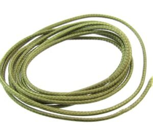 olive green waxed braided polyester cord 1.5mm