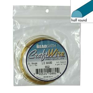half round gold wire