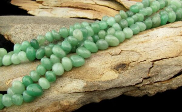 green aventurine gemstone nugget beads australia