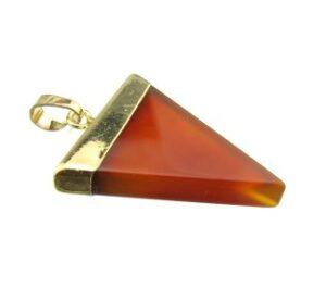 carnelian triangle pendant