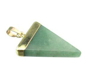 green aventurine triangle pendant