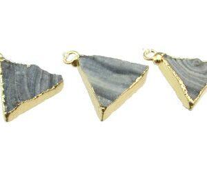 Grey Drusy Triangle