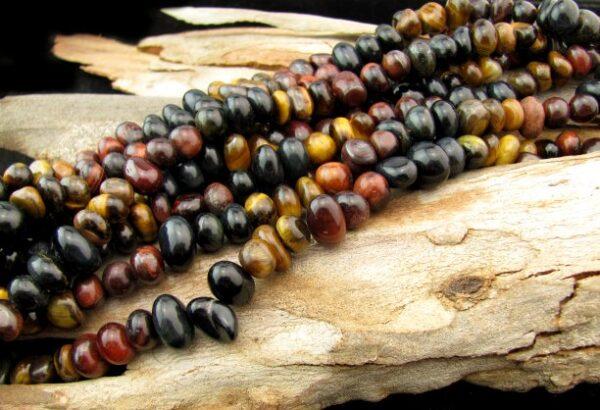 mixed tiger eye nugget gemstone beads