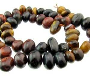 mixed tiger eye nugget gemstone beads
