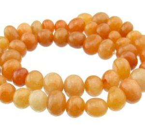 red aventurine gemstone nugget beads