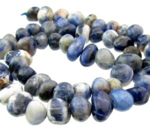 sodalite nugget gemstone beads