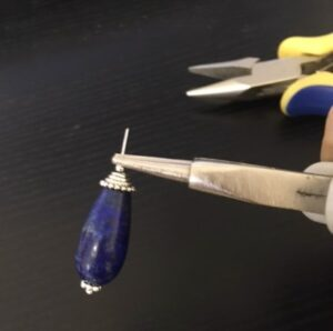 lapis lazuli teardrop beads dangle