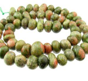 unakite nugget gemstone beads