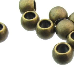 bronze barrel beads