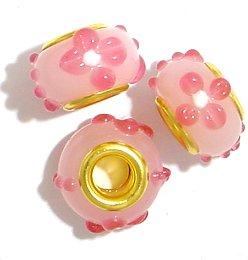 gold pandora style beads