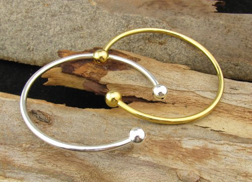 gold toned cuff bracelet for wire wrapping
