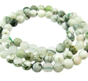 moss agate faceted round gemstone beads 6mm
