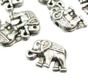 silver elephant beads