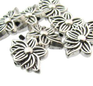 silver lotus beads