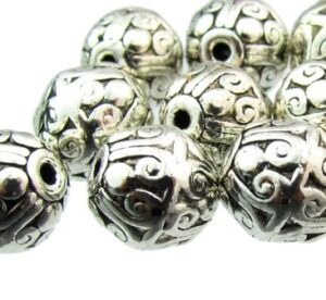 antique silver alloy beads for mala