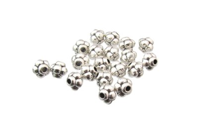 silver bumpy spacer beads