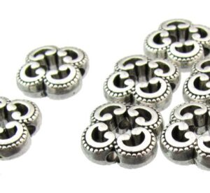 silver connector beads