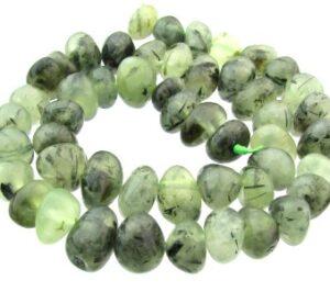 prehnite gemstone nugget beads