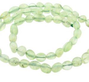 prehnite pebble nugget gemstone beads