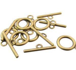 plain bronze toggle clasp