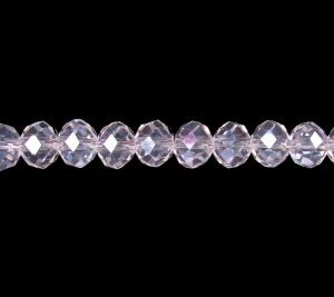 clear ab crystal rondelle 6x8mm beads