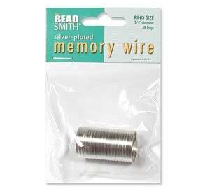 beadsmith ring memory wire silver