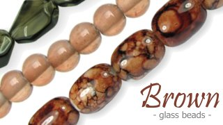 brown glass beads australia