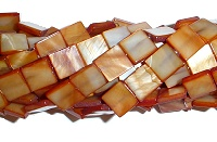 square mother of pearl shell beads
