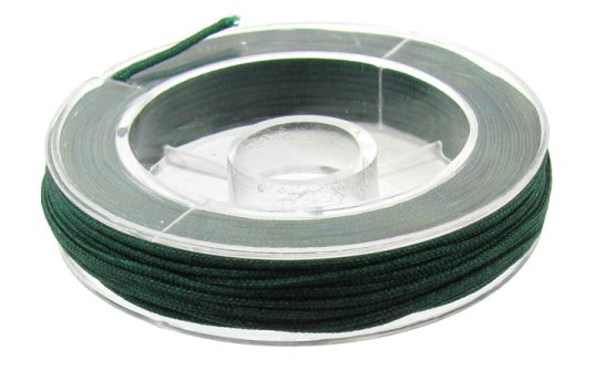 emerald green beading nylon cord