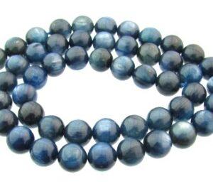 kyanite gemstone round beads 8mm