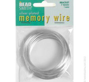 CBWS2070 beadsmith memory wire 1oz bulk silver