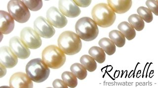 rondelle button freshwater pearls